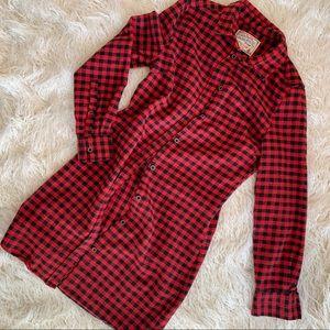 Original Jachs MFG Co. Red Plaid Dress Size XS